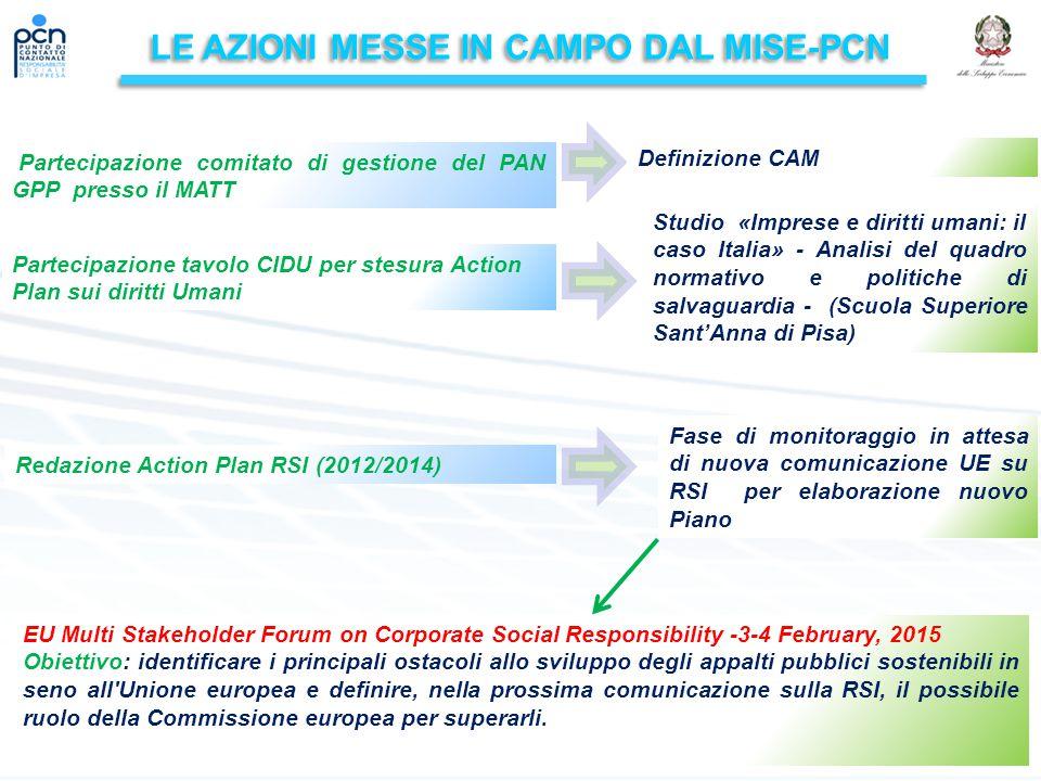 LE AZIONI MESSE IN CAMPO DAL MISE-PCN