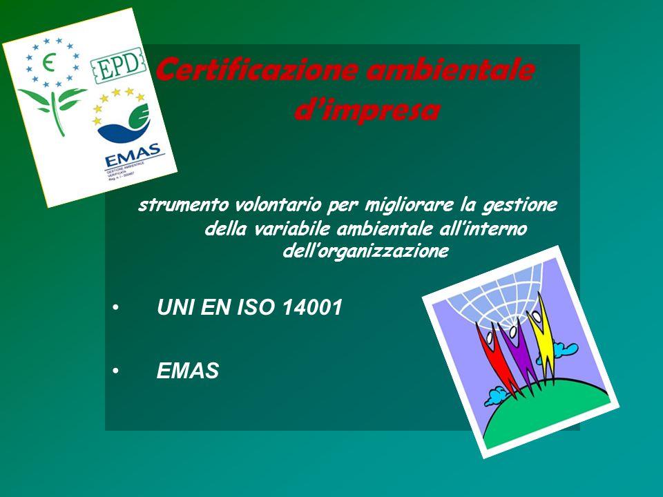 Certificazione ambientale d'impresa