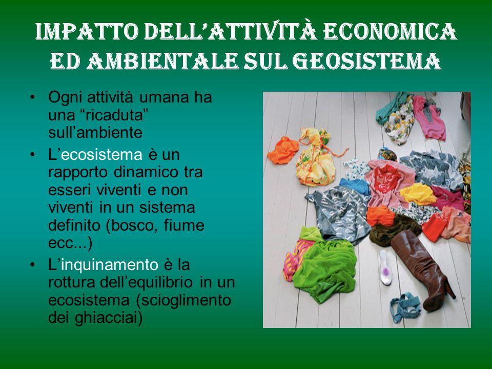 Impatto dell'attività economica ed ambientale sul geosistema