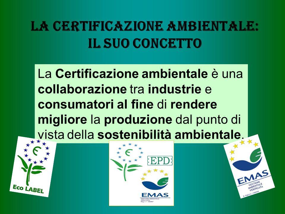 La certificazione Ambientale: il suo Concetto