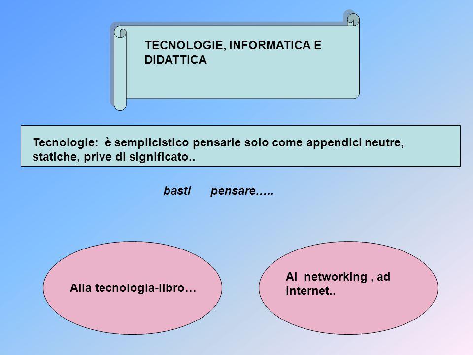 TECNOLOGIE, INFORMATICA E DIDATTICA