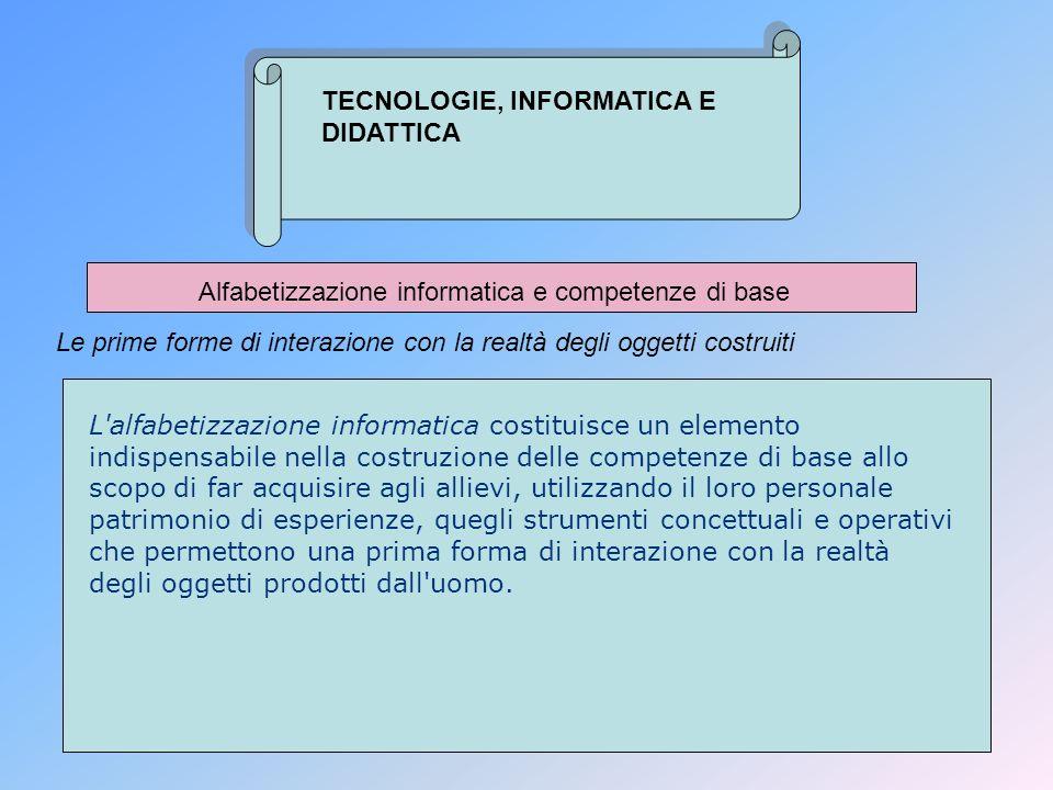 Alfabetizzazione informatica e competenze di base