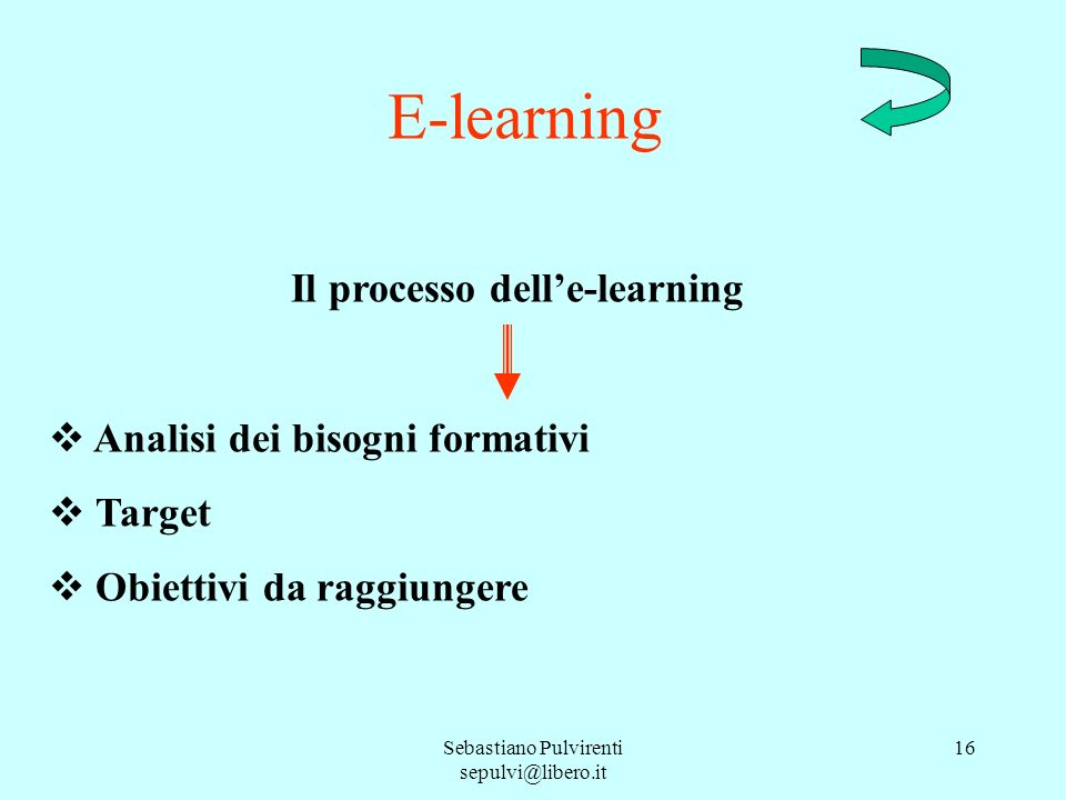 Il processo dell'e-learning