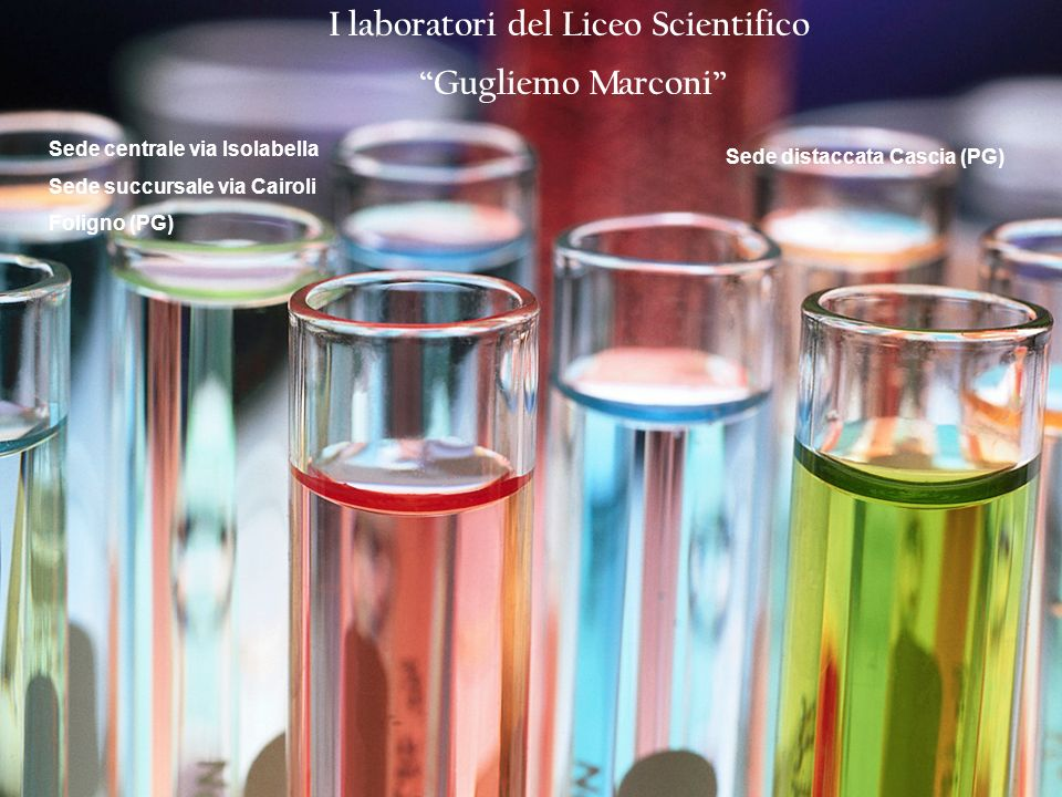 I laboratori del Liceo Scientifico