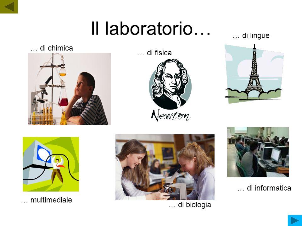 Il laboratorio… … di lingue … di chimica … di fisica … di informatica