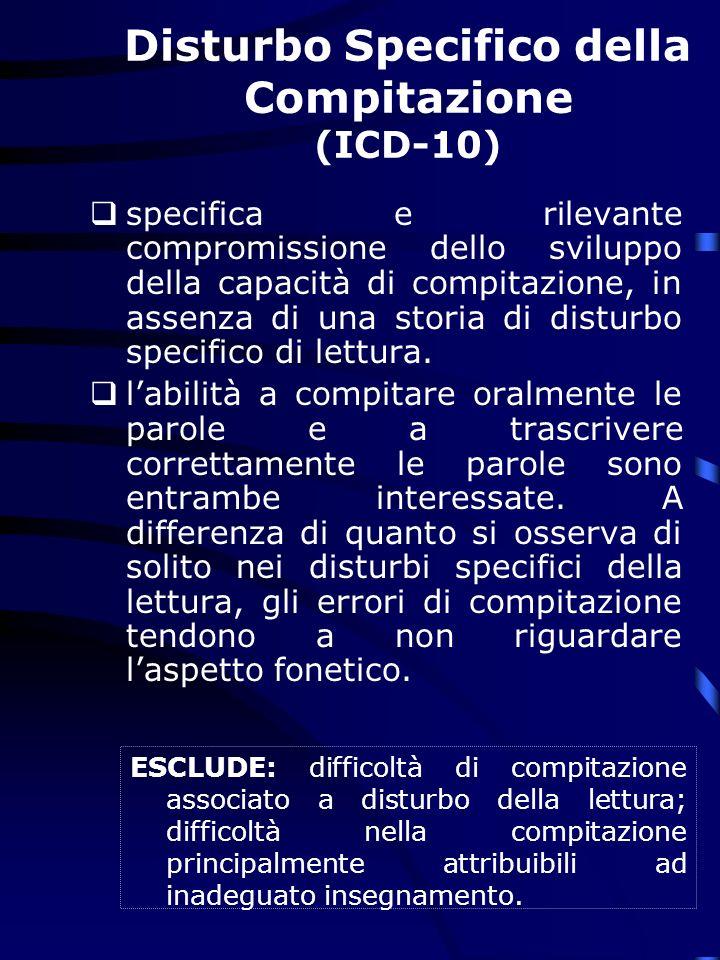 Disturbo Specifico della Compitazione (ICD-10)