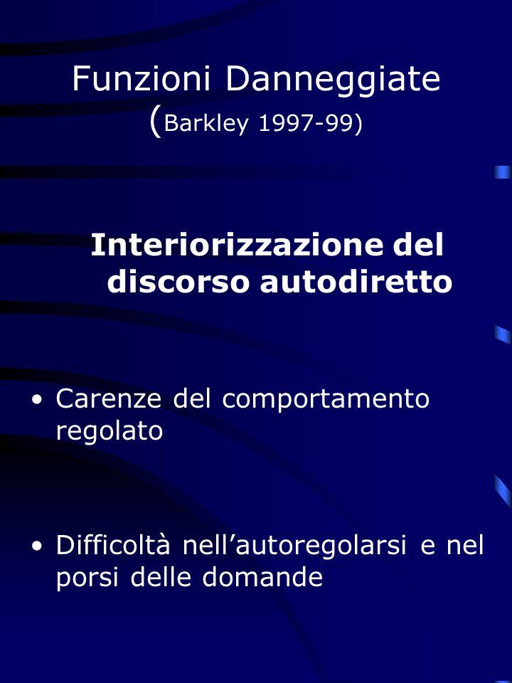 Funzioni Danneggiate (Barkley 1997-99)