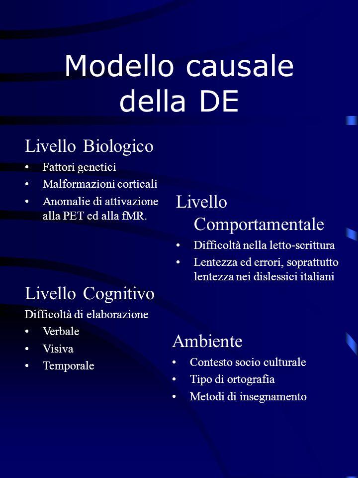 Modello causale della DE