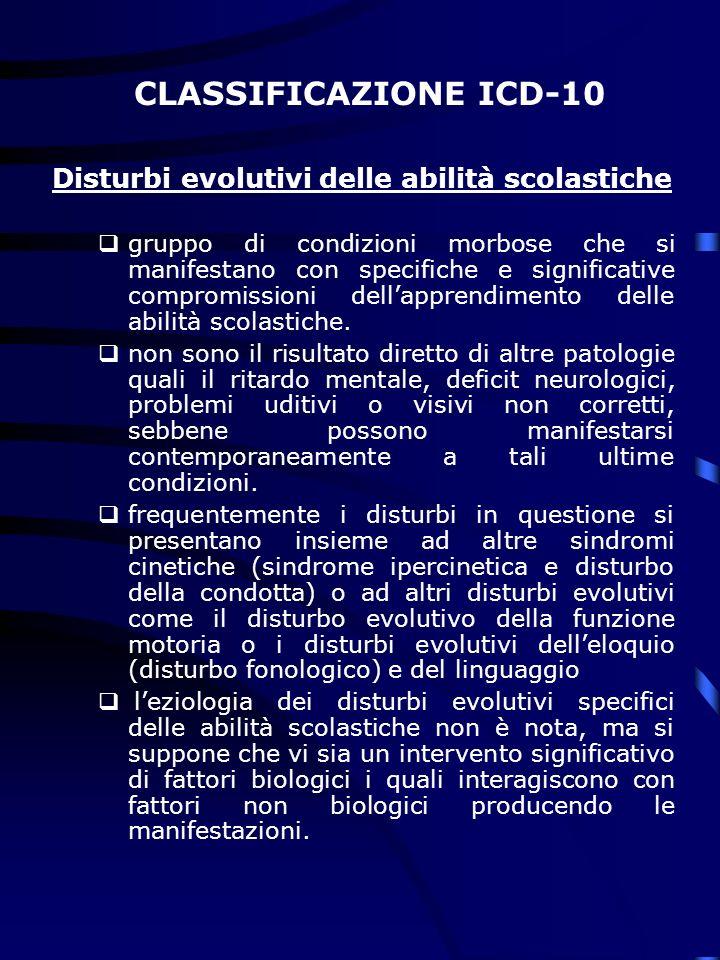 Disturbi evolutivi delle abilità scolastiche