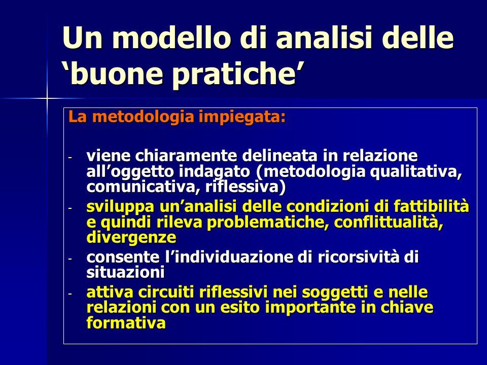Un modello di analisi delle 'buone pratiche'