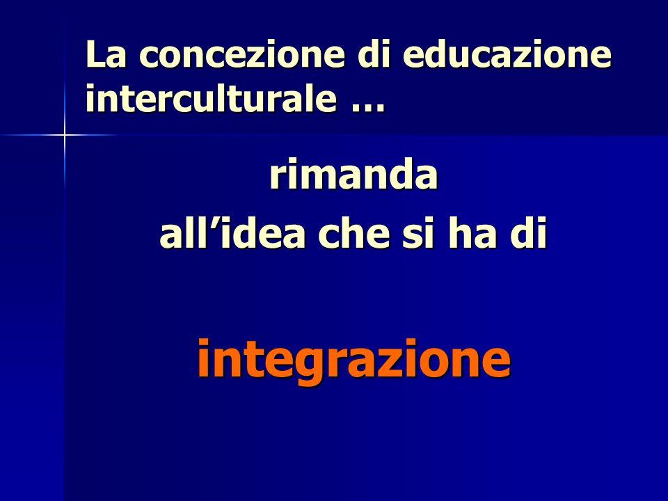 La concezione di educazione interculturale …