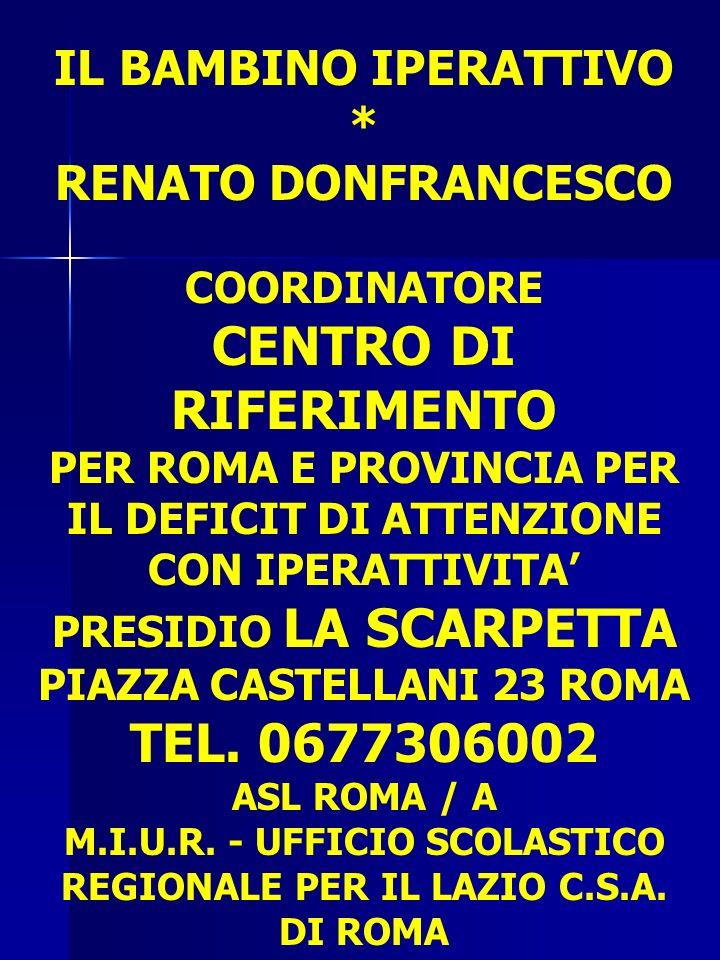 CENTRO DI RIFERIMENTO TEL. 0677306002