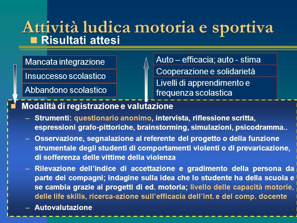 Attività ludica motoria e sportiva