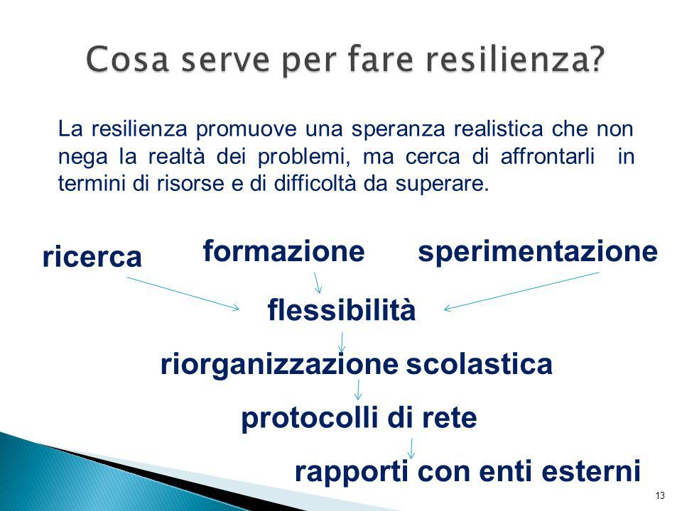 Cosa serve per fare resilienza