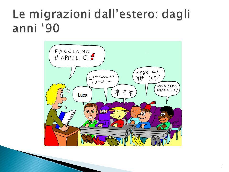 Le migrazioni dall'estero: dagli anni '90