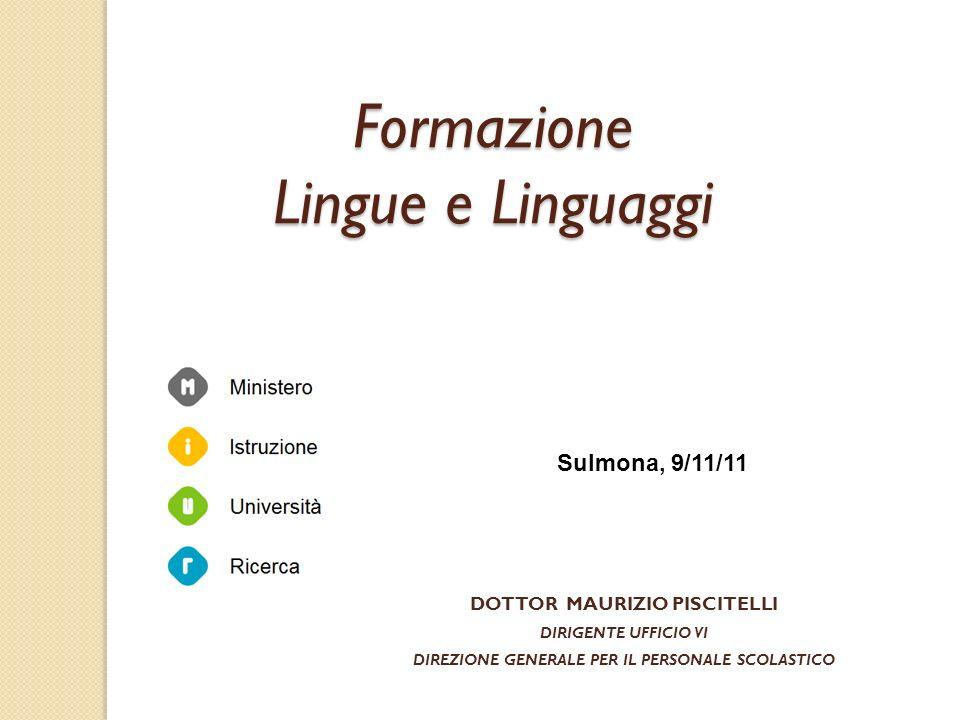 Formazione Lingue e Linguaggi Sulmona, 9/11/11