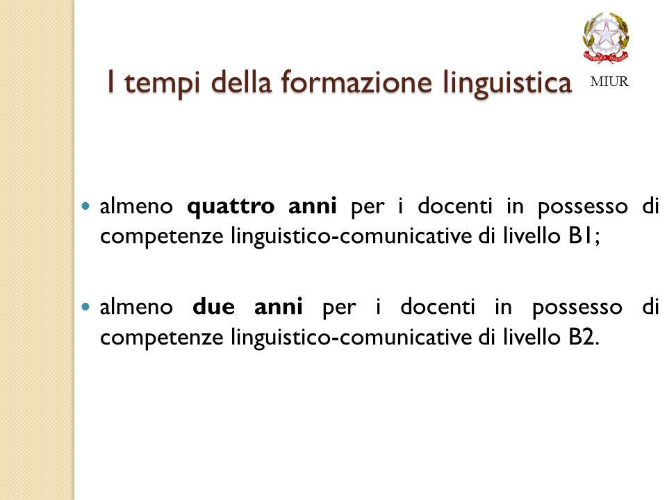 I tempi della formazione linguistica