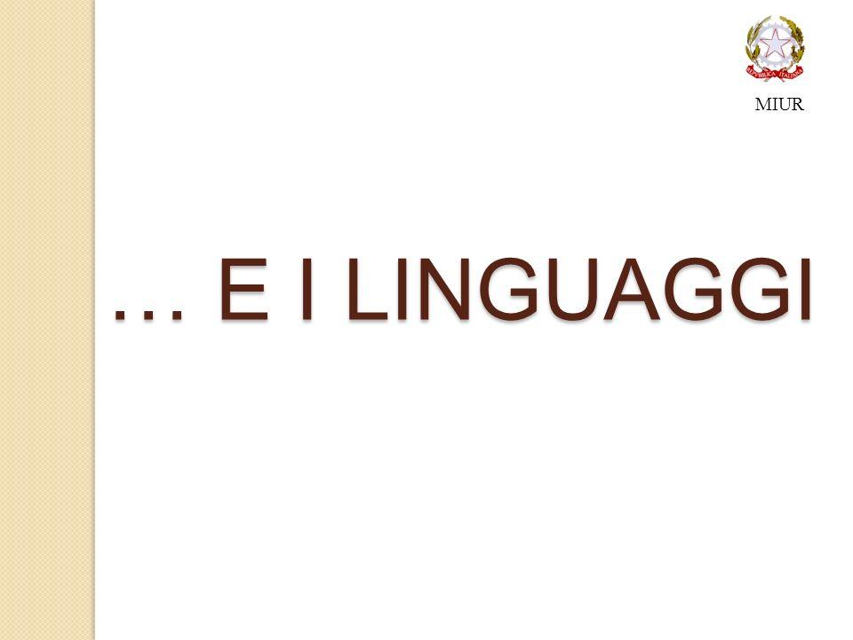 MIUR … E I LINGUAGGI