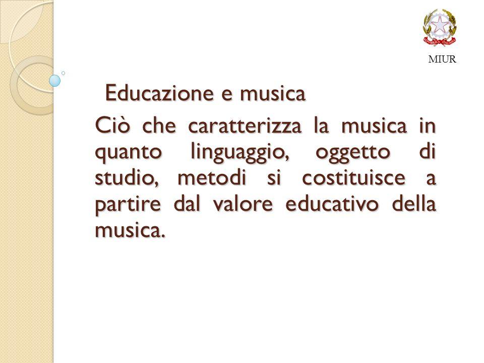 MIUR Educazione e musica.