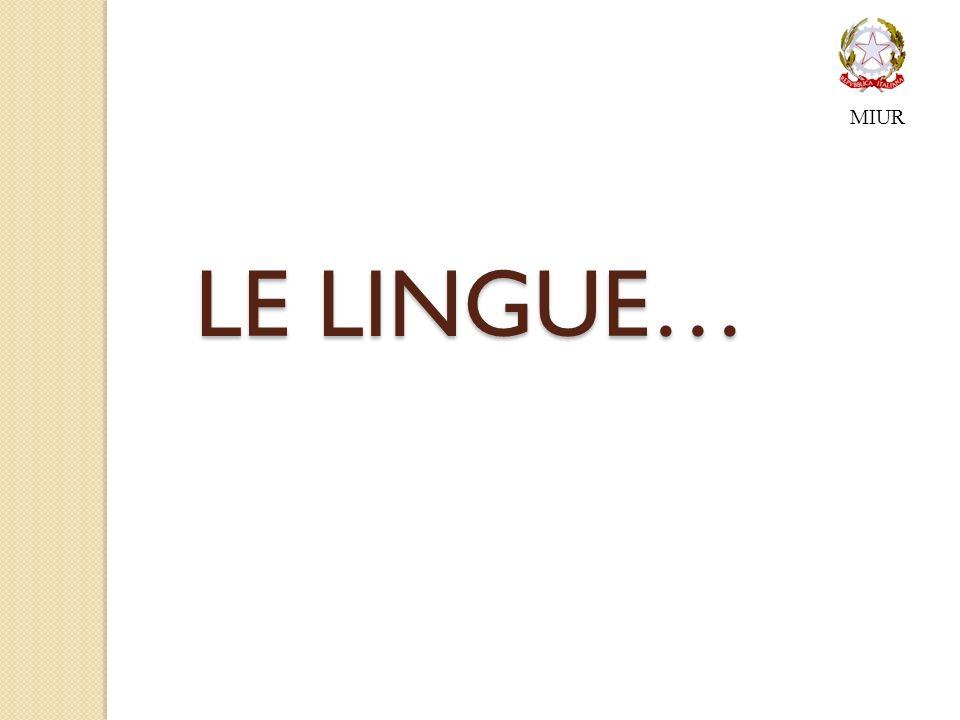 MIUR LE LINGUE…