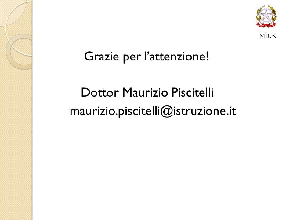 Grazie per l'attenzione! Dottor Maurizio Piscitelli