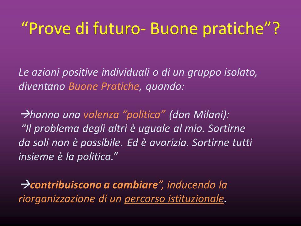 Prove di futuro- Buone pratiche
