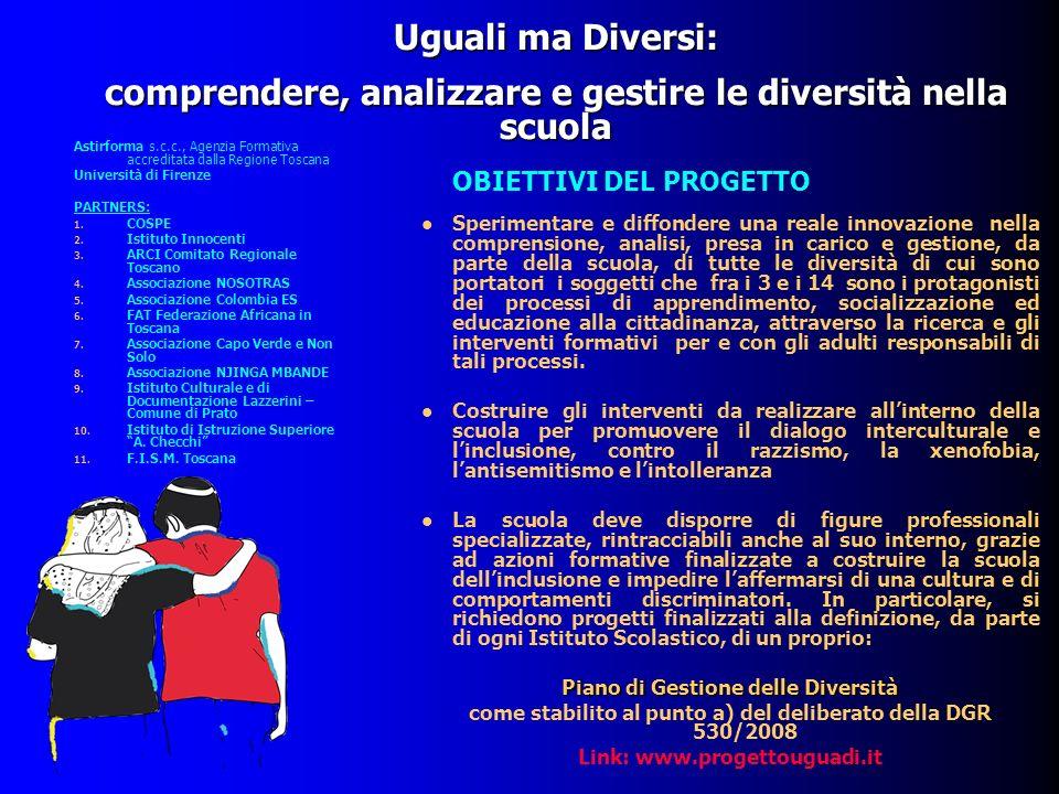 comprendere, analizzare e gestire le diversità nella scuola
