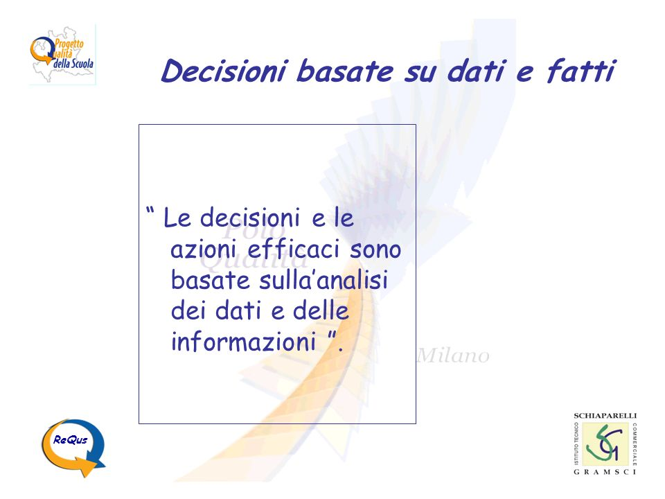 Decisioni basate su dati e fatti