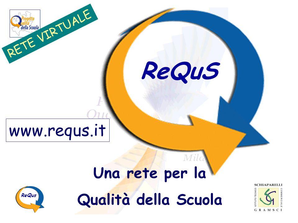 ReQuS www.requs.it Una rete per la Qualità della Scuola RETE VIRTUALE
