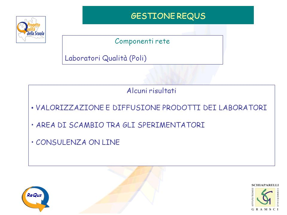 GESTIONE REQUS Componenti rete Laboratori Qualità (Poli)