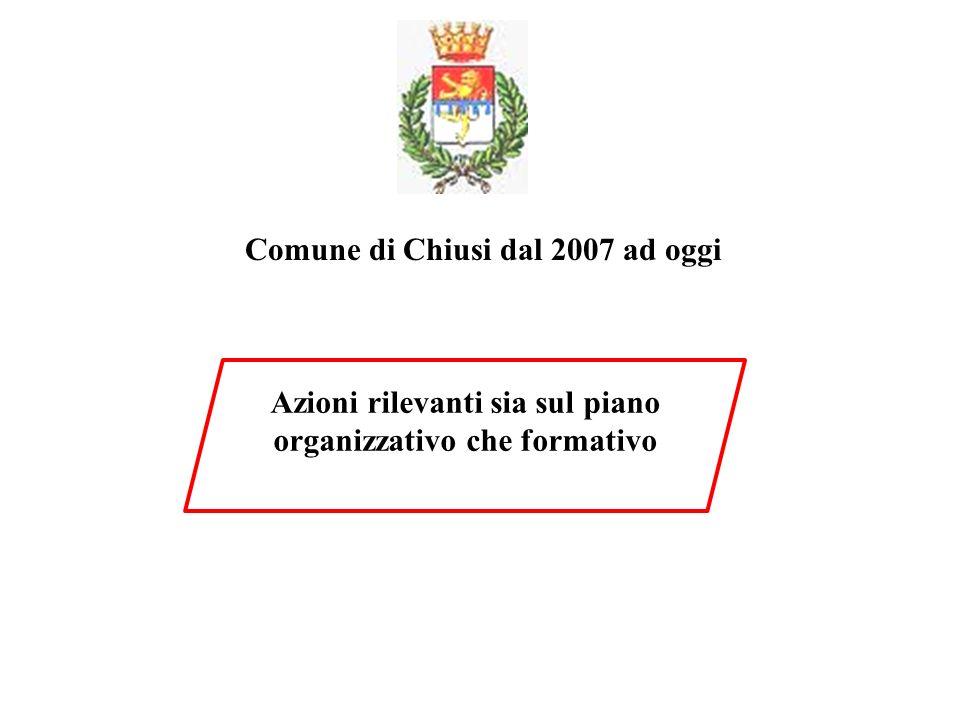 Comune di Chiusi dal 2007 ad oggi