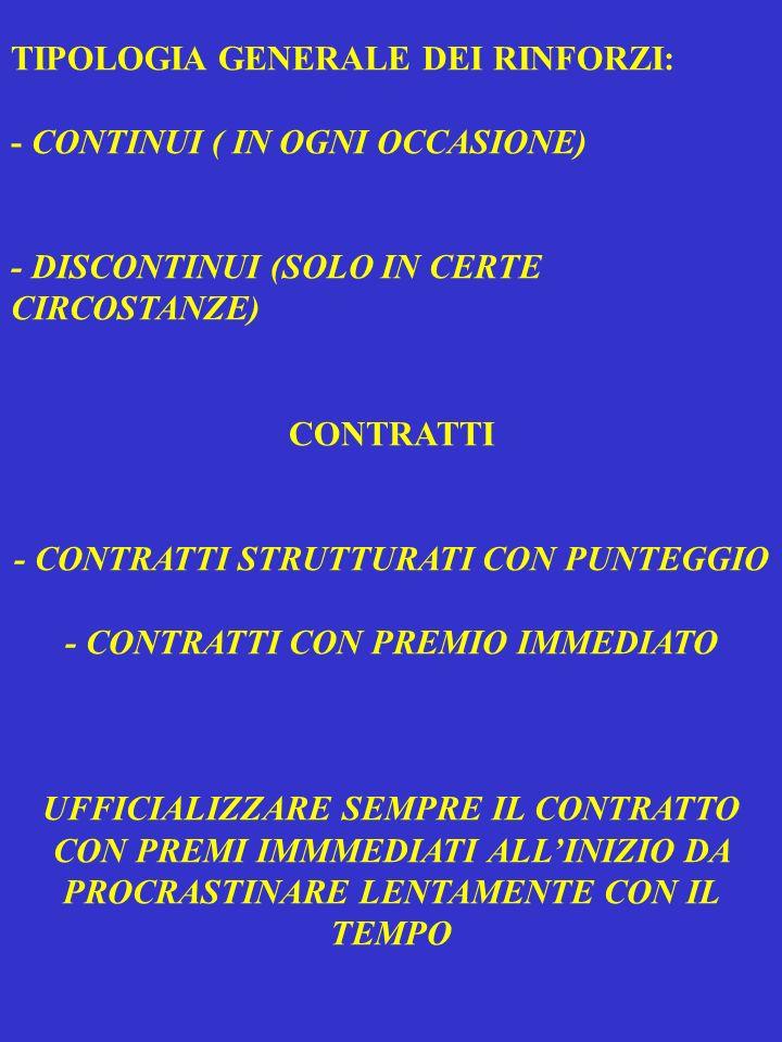 - CONTRATTI STRUTTURATI CON PUNTEGGIO - CONTRATTI CON PREMIO IMMEDIATO