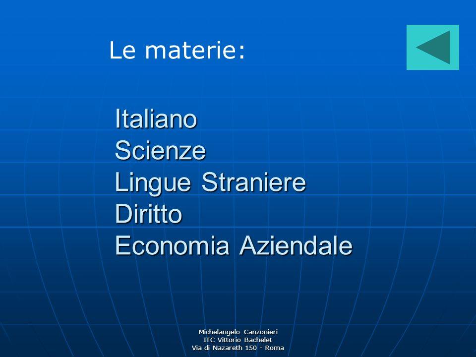 Italiano Scienze Lingue Straniere Diritto Economia Aziendale