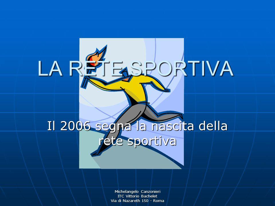 Il 2006 segna la nascita della rete sportiva