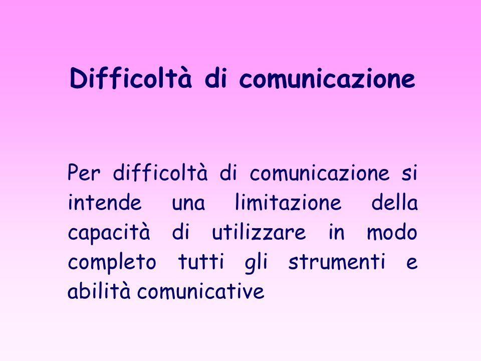 Difficoltà di comunicazione