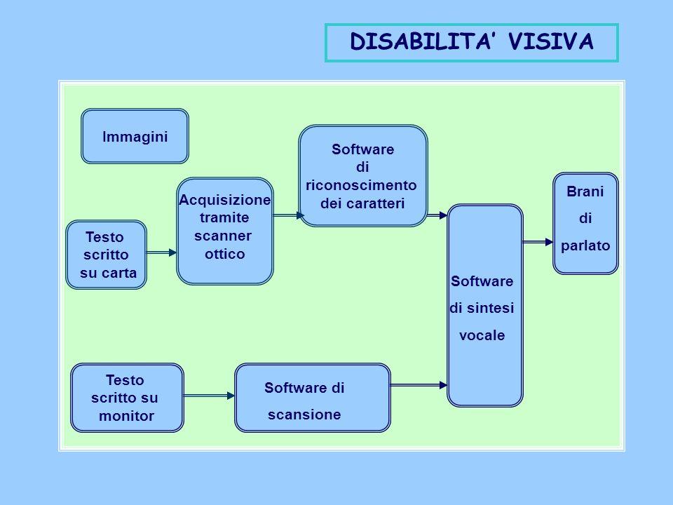 DISABILITA' VISIVA Immagini Software di riconoscimento dei caratteri