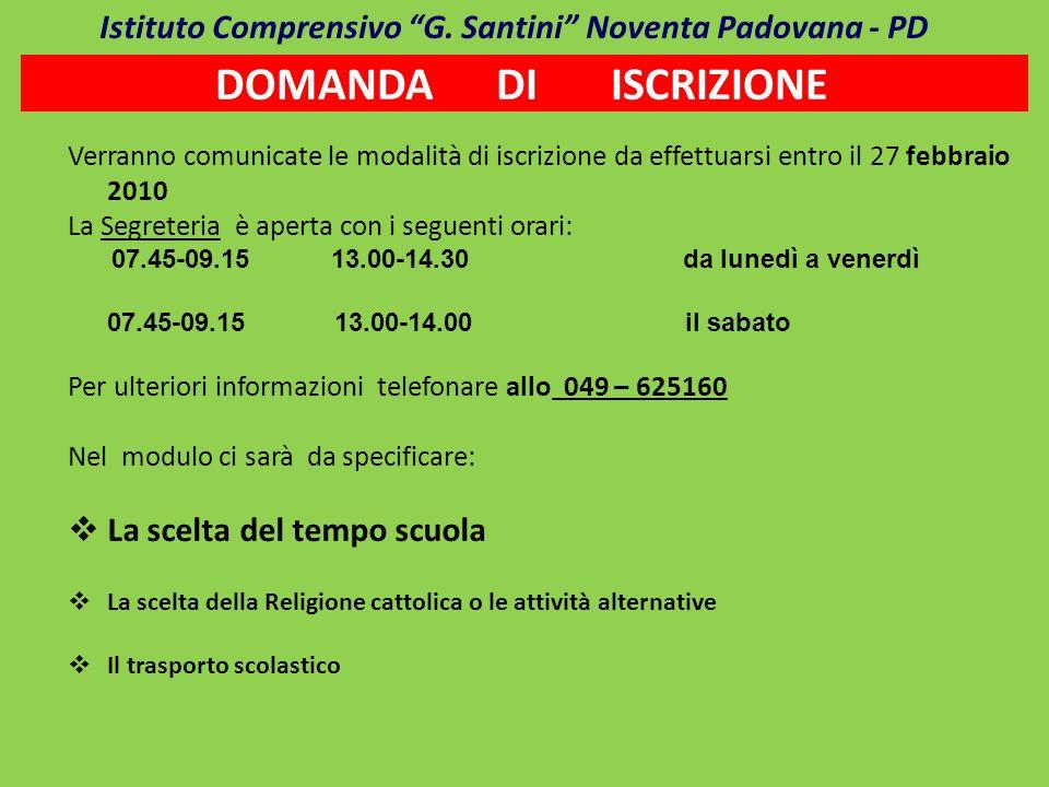 Istituto Comprensivo G. Santini Noventa Padovana - PD