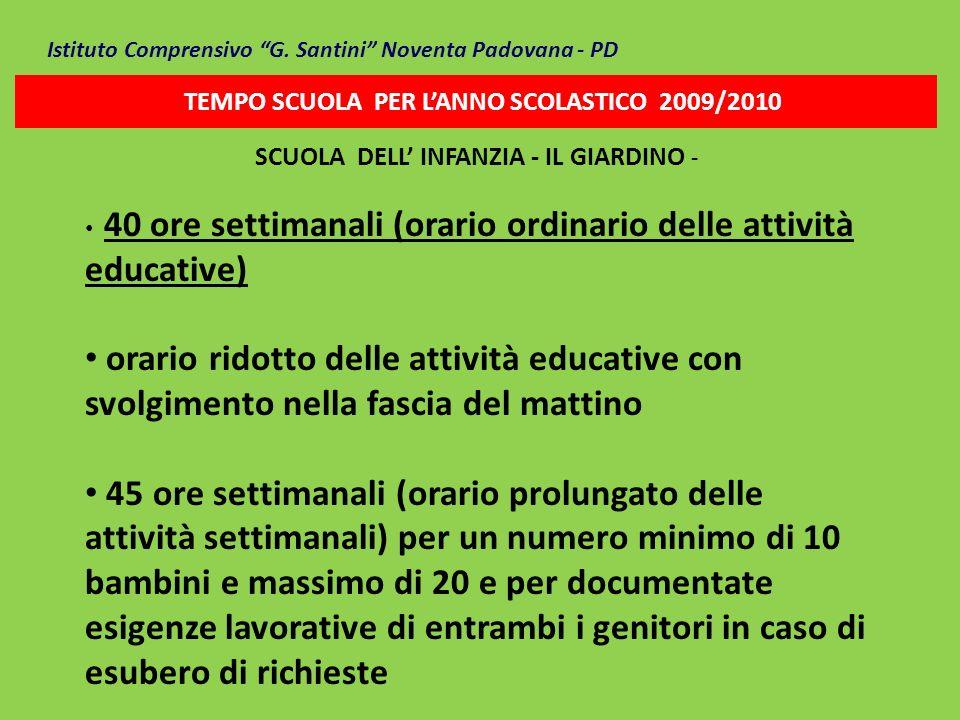 SCUOLA DELL' INFANZIA - IL GIARDINO -