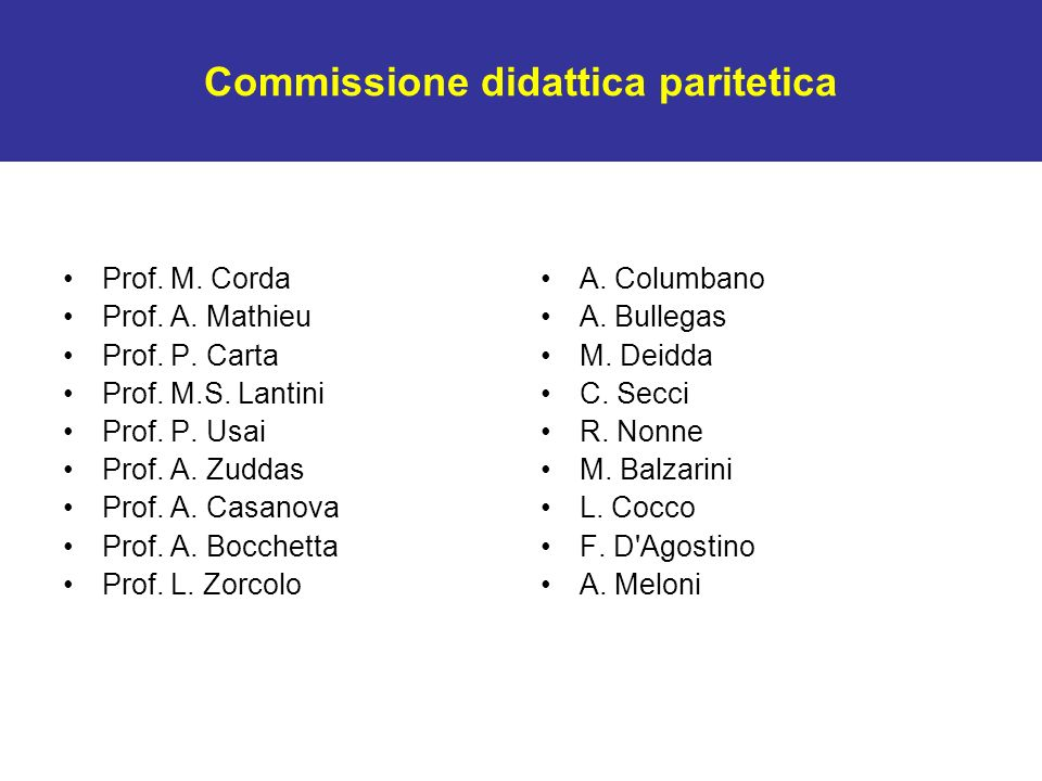Commissione didattica paritetica