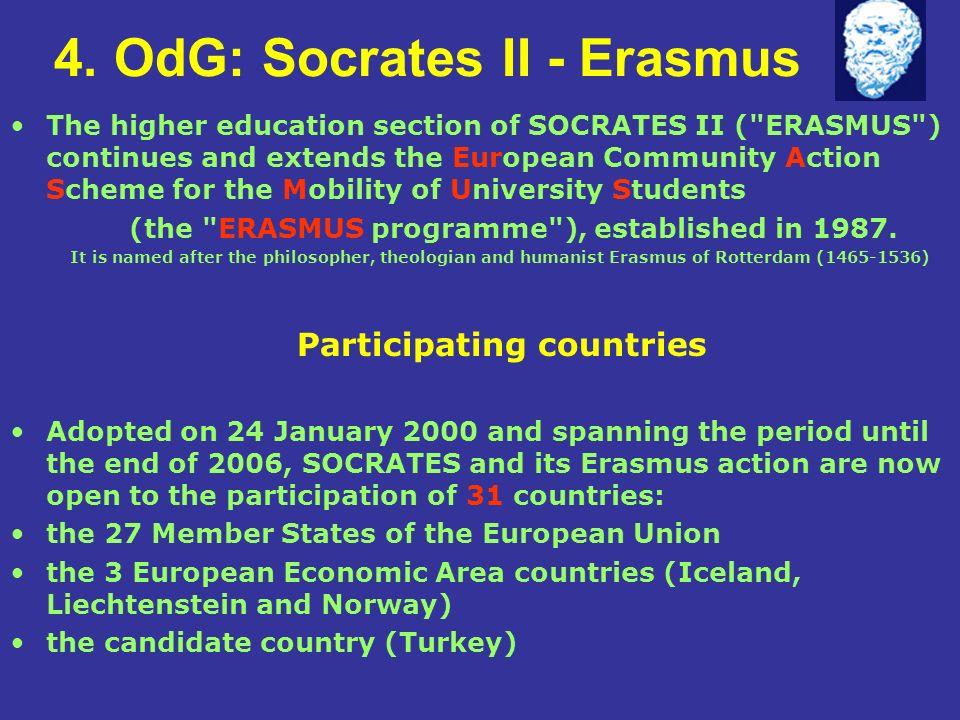 4. OdG: Socrates II - Erasmus