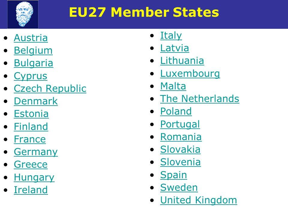 EU27 Member States Italy Austria Latvia Belgium Lithuania Bulgaria