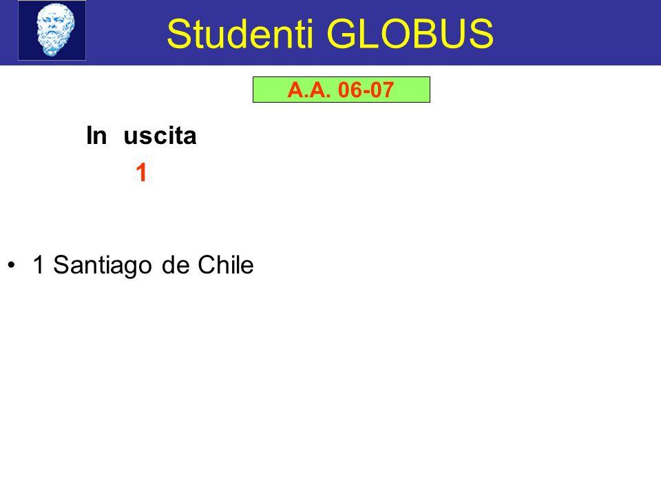 Studenti GLOBUS A.A. 06-07 In uscita 1 1 Santiago de Chile