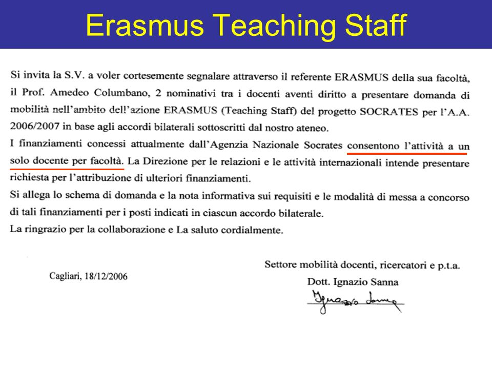 Erasmus Teaching Staff