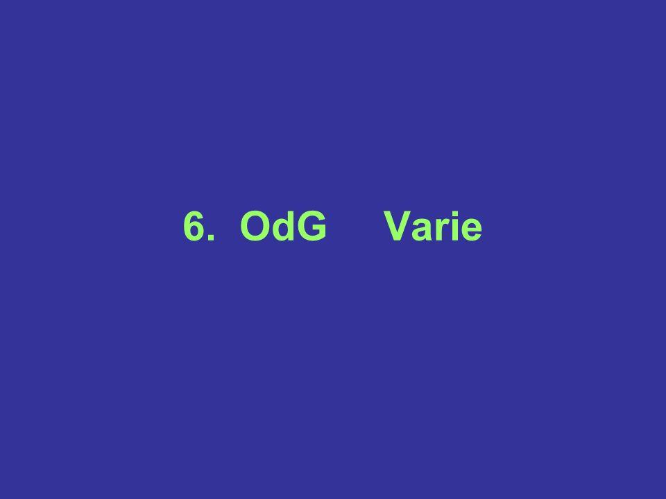 6. OdG Varie
