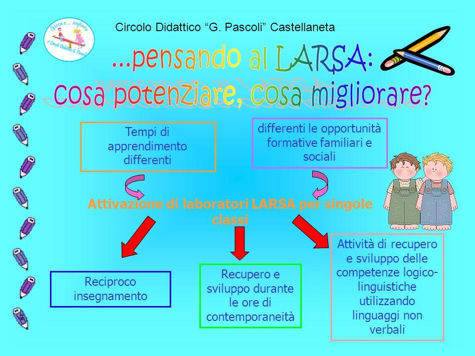 Attivazione di laboratori LARSA per singole classi