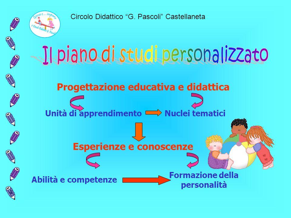Il piano di studi personalizzato Formazione della personalità