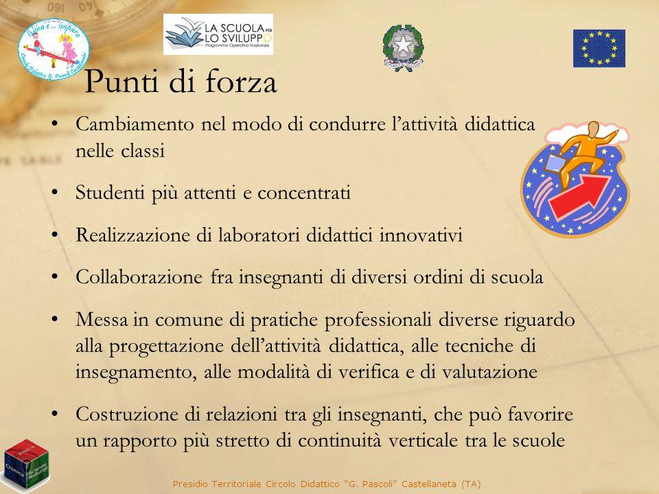 Presidio Territoriale Circolo Didattico G. Pascoli Castellaneta (TA)