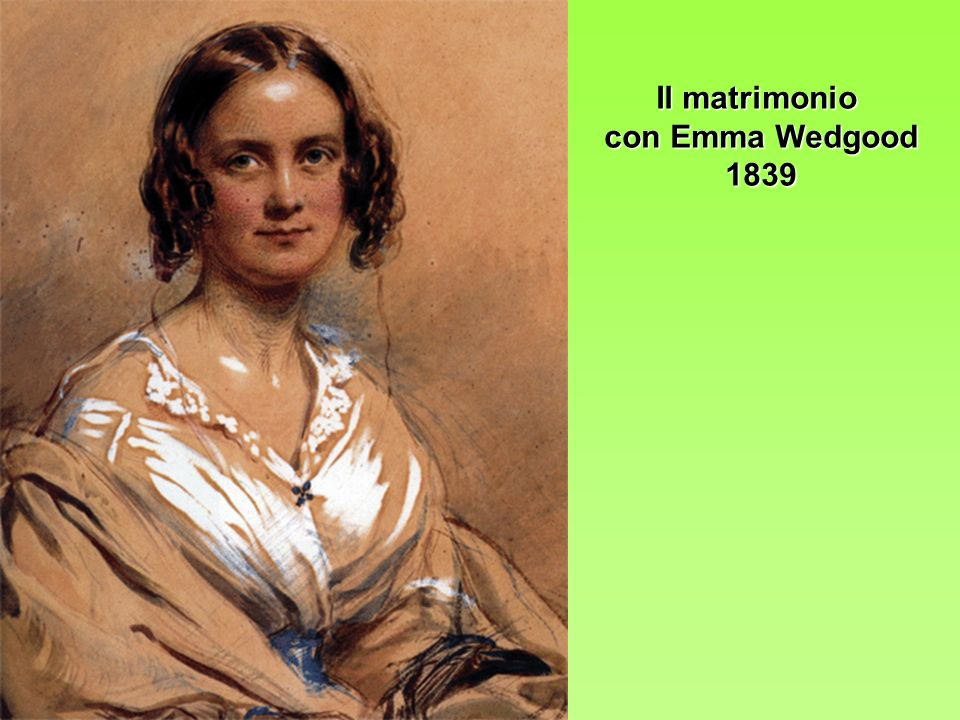 Il matrimonio con Emma Wedgood 1839