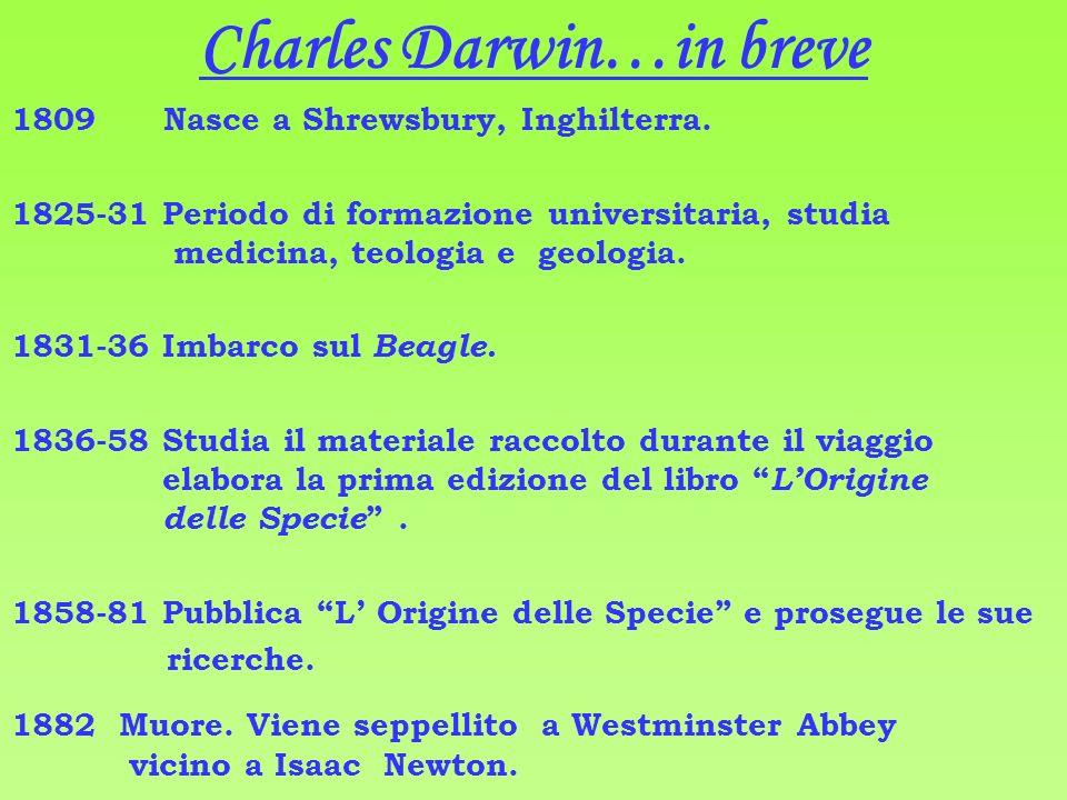 Charles Darwin…in breve