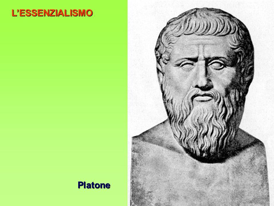 L'ESSENZIALISMO Platone